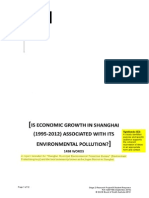 Economic Growth in Shanghai