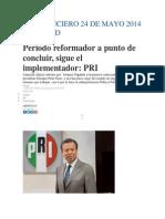 Noticia El Financiero 24 de Mayo 2014