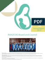 RANZCOG Annual Report 2013