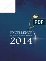 Excellence in Public Service Awards 2014