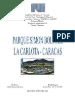 Urbanismo. Parque Simon Bolivar