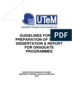Thesis Guidelines For Utem