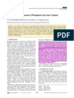 Electrochemical Removal of Phosphate Ions From Treated