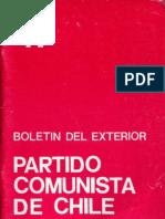 Boletín del Exterior Partido Comunista de Chile Nº47