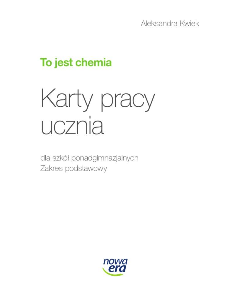 Test Chemia Klasa 2 Gimnazjum Kwasy Chomikuj Pl …