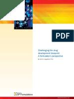 Challenging the Drug Development Blueprint a Formulators Perspective