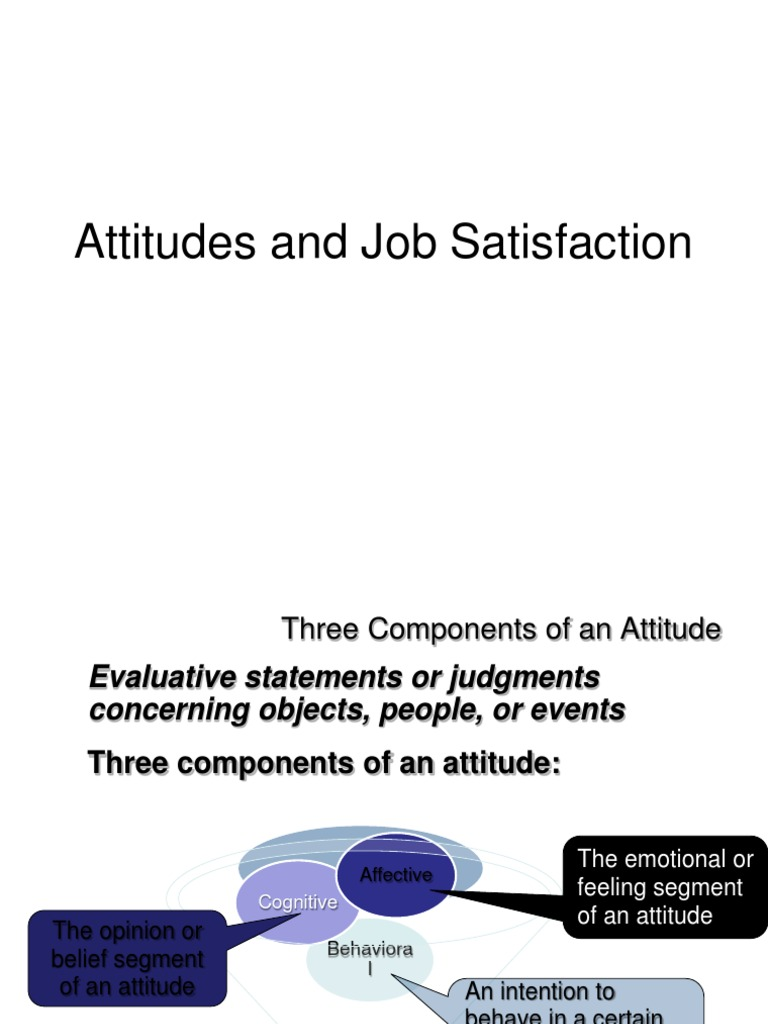 literature review on employee attitudes and job satisfaction management essay The link between job redesign or enrichment (teams being one example) and employee attitudes while we appreciate the limits of self-report, the subjective experience of the employee may be a critical link between organizational interventions and subsequent outcomes.