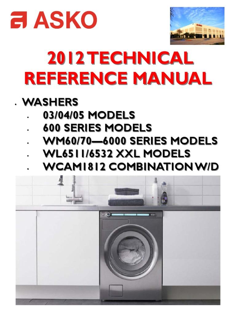 Asko Washing Machine Wiring Diagram Electricity Whirlpool Washer Motor Reference Ebook Apr12 Switch Rh Scribd Com Maytag Diagrams