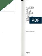 Eco Umberto - Historia de La Belleza
