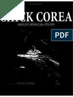 148869425 Chick Corea Origin Songs for Piano Yamaha Jap
