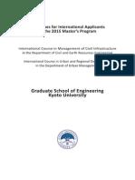 Guidelines for 2015 Master's Program