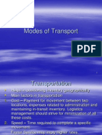 Modes of Transport