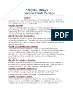 7n8d Kerala Honeymoon Package