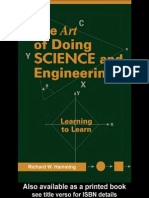 Hamming - The Art of Doing Science & Engineering