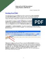 Excel 2003 Tut