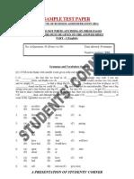 IBA Sample Test Paper