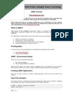 Www.tutorialspoint.com Jdbc Jdbc Tutorial