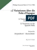 CEP Bach 12 Variationen Ber Die Folie d Espagne