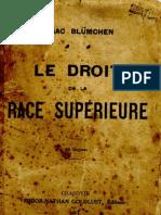 Le Droit de la Race supérieure