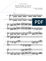 Klosé Studies 5 and 6 Bass Clarinet and Violin Score