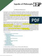 Internet Encyclopedia of Philosophy Philosophty of Social Science