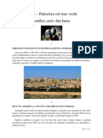 Israel Palestina cel mai vechi conflict activ din lume