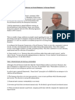 Articule Muhammad Yunus and His Advocay Social Business Europe Ready