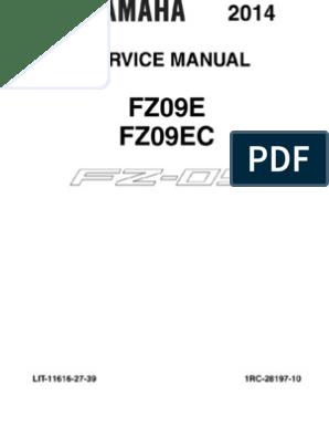 Yamaha YZ-125 Service Manual Workshop Manual 2014   Throttle ... on