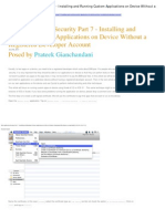 IOS Application Security Part 7 - Installing and Running Custom Applications on Device Without a Registered Developer Account
