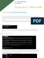 IOS Application Security Part 21 – ARM and GDB Basics
