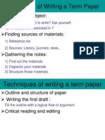 Techniques for term paper