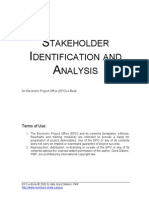 Stakeholder Identification and Analysis