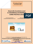 EL DESARROLLO ECONÓMICO COMO POLÍTICA LOCAL (Es) ECONOMIC DEVELOPMENT AS LOCAL POLICY (Es) EKONOMI GARAPENA TOKIKO POLITIKA GISA (Es)