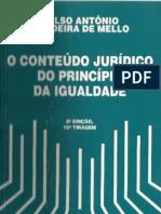 O Conteúdo Jurídico Do Pricípio Da Igualdade - Celso Antônio Ba