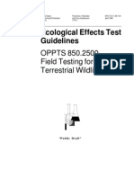 Ecological Effect Test Guidelines - Wildlife Tests