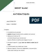 Un Brevet Blanc Pour s'Entrainer - Geombre - Collège Henri Barbusse - Buis Les Baronnies