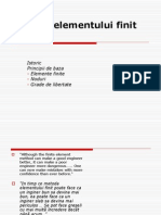 Metoda Elementului Finit (MEF1-)