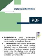 Farmacologie - Antihelminice