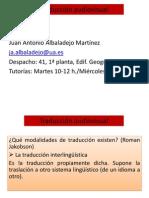 Traducción Audiovisual Hasta 17.02.2014