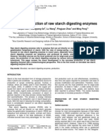 Microbial Production of Raw Starch Digesting Enzymes