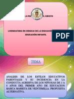 Presentacion Escuela Para Padres Estilos Educacion