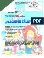 Plecam in Calatorie Proiect Tematic Prescolari