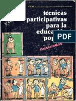 127785691 CIDE Tecnicas Participativas Para La Educacion Popular Ilustradas