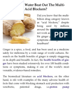 Can Ginger & Water Beat Out the Multi-Billion Dollar Acid Blockers