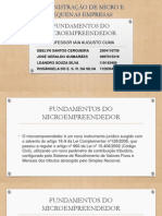 Fundamentos Do Microempreendedor