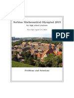 2013 Serbian Mathematical Olympiad Booklet