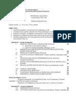 Programa Analitica-Psihologie Sociala