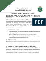 EDITAL-Mestrado Profissional Em Planejamento e Políticas Públicos