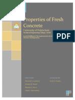 Properties of Fresh Concrete Kurdistan