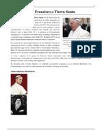 Viaje Del Papa Francisco a Tierra Santa